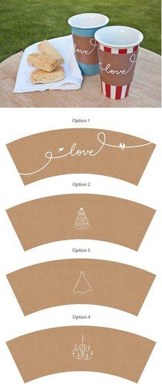 une jolie façon de personnaliser vos gobelets... vous pourrez les utiliser pour un mariage, mais aussi pour une fête de Saint Valentin, un anniversaire...