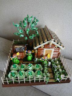 Candy Bouquet Diy, Diy Bouquet, Chocolate Pack, Chocolate Gifts, Candy Crafts, Paper Crafts, Chocolate Flowers Bouquet, Cadeau Surprise, Candy Arrangements
