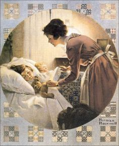 Mother's Little Angels by Norman Rockwell
