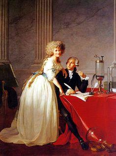 Antoine-Laurent de Lavoisier y su esposa, pintados por Louis David. Siglo XVIII