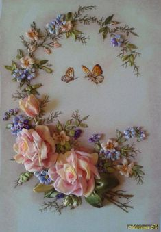 Wonderful Ribbon Embroidery Flowers by Hand Ideas. Enchanting Ribbon Embroidery Flowers by Hand Ideas. Ribbon Embroidery Tutorial, Rose Embroidery, Silk Ribbon Embroidery, Embroidery Kits, Embroidery Stitches, Embroidery Designs, Embroidery Supplies, Embroidery Boutique, Embroidery Jewelry