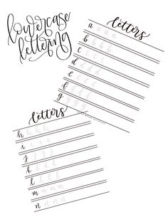 Lowercase Calligraphy Practice Sheets By BayouBrushLettering On Etsy Listing 499834994