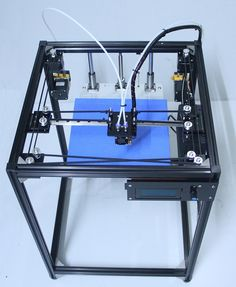 352.50$  Watch now - http://alidlg.worldwells.pw/go.php?t=32375860967 - big size DIY aluminum Frame corexy 3d printer Kit with 50g PLA dual extruder 3d printer