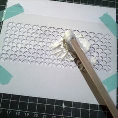 A Blog Named Hero: selfmade stencil and modeling paste
