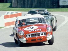 1965 .. Le Mans .. Works entered MGB , driven by Andrew Hedges / Paddy Hopkirk , finished 11th o/a