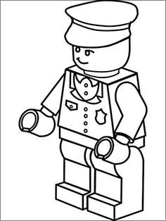 Lego Police Coloring Pages 2