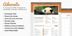 Review  Advocate - A Nonprofit Responsive HTML Template This site is will advise you where to buy