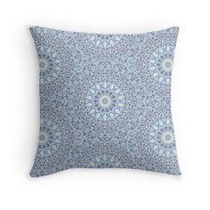 Cushion Cover - Elegant Throw Pillow Cover - Lacy Blue - pop over to the designer's own shop at annumar.com