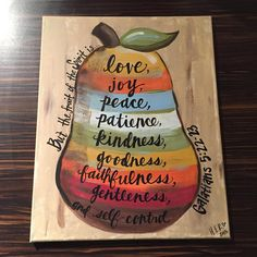 Fruits of the Spirit Painting on Canvas  16x20 by HerDoodles