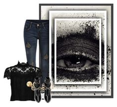 """""""Lazy Eye"""" by frecklegirl03 ❤ liked on Polyvore featuring Alice + Olivia, Eddie Borgo and Yves Saint Laurent"""