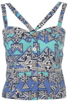 Petite Latino Suntop- Top Shop (This is so cool. I was originally going to say that I love the 80's but this top could be 90's)