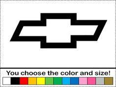 chevy emblem drawings | Chevy Bowtie Symbol Logo Emblem Vinyl Decal Car Truck Window Sticker ...