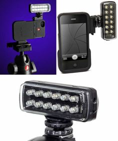 Manfrotto iPhone 4 KLYP IT CELL PHONE Video Lighting Case Accessory Smartphone. eBay: iPhone Lighting Device. (excellent condition) For Sale - bids open for a short time only. Click for more details. Iphone Camera, Iphone 4, Iphone Light, Video Lighting, Conditioner, Smartphone, Technology, Popular, Ebay