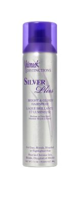 Jhirmack Bright and Glossy Hairspray: Who says silver hair isn't sexy?