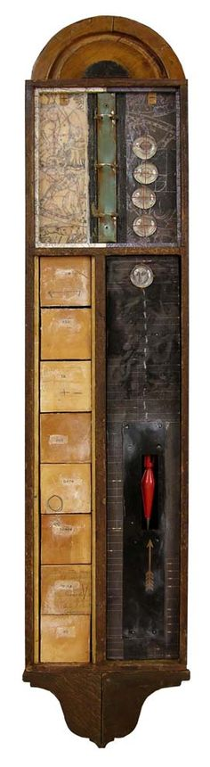 "GraceAnn Warn.  Oppose, 2011   40.5 "" x 9.5 "" x 4 ""  Mixed media assemblage"