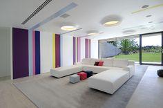 modern architecture - a-cero - la finca 10 - somosaguas - madrid - spain - interior view - living room
