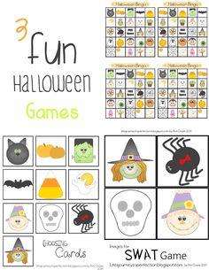 Day 9 and 10 of the 12 Days of Halloween Fun: Halloween Games (Cake Walk, Bingo, Halloween Character Swat)