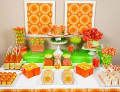 Orange and Lime wedding ideas....pop bottles! Candy! Lollipops! <3