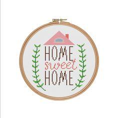 Home sweet home Home cross stitch Cross stitch by StitcheryStitch