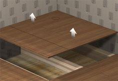 Duschwanne Holzboden
