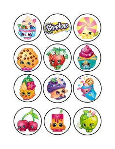 Bottle Cap Jewelry, Bottle Cap Art, Bottle Cap Images, Printable Stickers, Planner Stickers, Shopkins Drawings, Shopkins Bday, Shopkins And Shoppies, Cake Templates