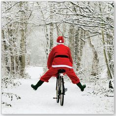 Cycling Santa. . It's almost that time of the year