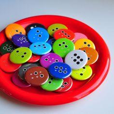 Gift Boxed Braille Alphabet Button Fridge Magnet Set by amepix, $18.00