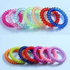 1PC Women Ladies Girls Hair Bands 5.5CM  Elastic Rubber Telephone Wire Style Hair Ties Ring Rope Accessories