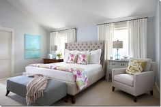 Heather Scott Home used my painting in her before and after bedroom design