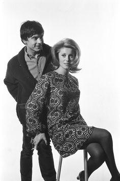 Catherine Deneuve with David Bailey.