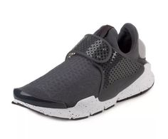cheaper 74a4f 648d2 Details about Nike Sock Dart Men s Shoes Grey White 819686-003 SIZE 11 New