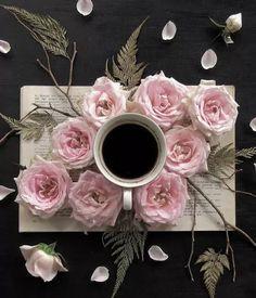 Raindrops and Roses Coffee Heart, I Love Coffee, Coffee Break, My Coffee, Coffee Time, Morning Coffee, Coffee Flower, Flower Tea, Coffee Latte