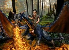Young dragon lover...working with the power of fire.