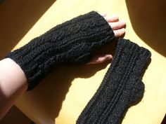 Don't Lick The Spoon: Cabled Crochet Fingerless Gloves