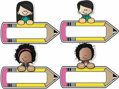 Print and use these name tags Classroom Labels, Classroom Rules, Preschool Classroom, In Kindergarten, Classroom Decor, First Day Of School, Back To School, School Border, School Frame