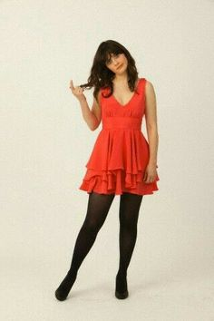 Nylons, Black Pantyhose, Black Tights, Zooey Deschanel Hair, Zooey Dechanel, Emily Deschanel, Mom Dress, Cozy Fashion, Tights Outfit
