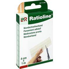 RATIOLINE sensitive Wundschnellverband 4 cmx1 m:   Packungsinhalt: 1 St Pflaster PZN: 01805154 Hersteller: Lohmann & Rauscher GmbH &…