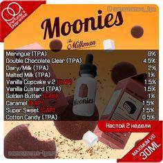 The Milkman - Moonies Vanilla Milk, Vanilla Custard, Diy Vape Juice, Vape Facts, E Juice Recipe, Diy E Liquid, Clone Recipe, E Liquid Flavors, Ice Cream Floats
