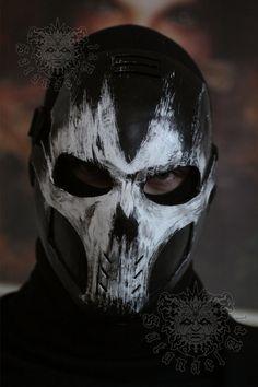 Gory by SatanaelArt on DeviantArt Armadura Cosplay, Airsoft Mask, Mask Painting, Handmade Paint, Skull Mask, Cool Masks, Armor Concept, Masks Art, Punisher