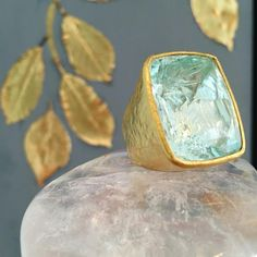 An Afghan Aquamarine wrapped in 22kt gold from the Pippa Small Malika Collection - now available on @1stdibs ♔ pippa small