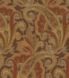 Upholstery Fabric-Waverly Tamsin Henna