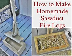 This step by step tutorial of how to make homemade sawdust fire logs can be reworked into a heating source for wood stoves, outdoor fire pits and fireplace