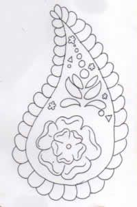 Batik Indiano desenho 2