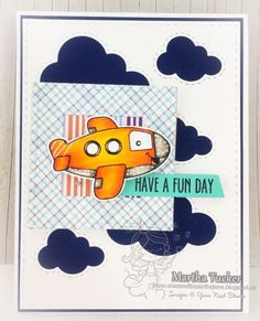 YNS Supplies:  Stitched Square Frame Die Set | Stitched Rectangle Die Set| Stitched Puffy Cloud Die Set | Cool Tag Banner Sentiments | Just Plane Amazing