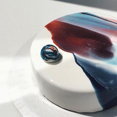 Final version of this killer galaxy cake #moussecake #vancouver