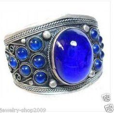 628 Jewelry Archaize tibet blue jade bracelet cuff
