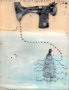Encaustic painting by Beth Billups