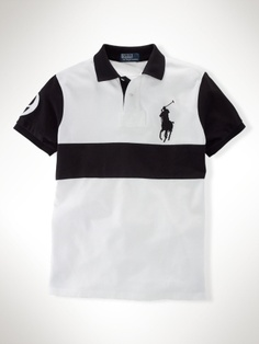 Classic Cheat Stripe Big Pony Polo Men's