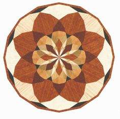 Click to see a larger image for R37 custom floor medallion, inlay, border or parquet.