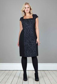 Anna Scholz - Ponte Jersey Colourblock Panel Dress